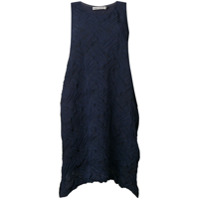 Issey Miyake Vestido Com Textura - Azul