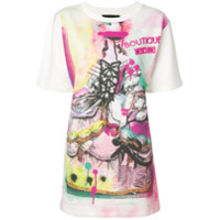 Boutique Moschino Camiseta Estampada - Branco