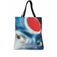Charles Jeffrey Loverboy Face Graphic Print Tote Bag - Azul