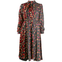 Junya Watanabe Vestido De Seda Estampado - Preto