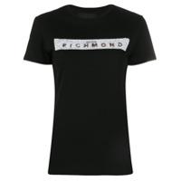 John Richmond Camiseta Com Logo Em Paetês - Preto
