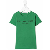 Philosophy Di Lorenzo Serafini Kids Moletom com logo - Verde - FarFetch BR