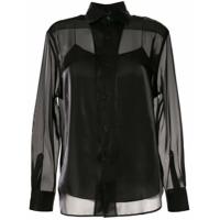 Ralph Lauren Collection Camisa Estruturada De Cetim - Preto