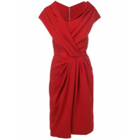 Vionnet Vestido Assimétrico - Vermelho