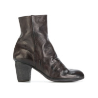 Ink Ankle Boot De Couro - Cinza