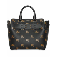 Burberry The Small Equestrian Knight Leather Belt Bag - Preto