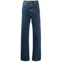 Helmut Lang Calça Jeans Reta Femme Com Cintura Alta - Azul