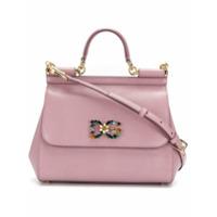 Dolce & Gabbana Bolsa Tiracolo Pequena 'sicily' - Rosa