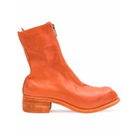 Guidi Front Zip Ankle Boots - Amarelo