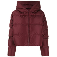 Bacon Cloud Hooded Puffer Jacket - Vermelho