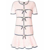 Edward Achour Paris Vestido Slim Com Renda - Rosa