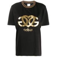 Gaelle Bonheur Camiseta com estampa de logo - Preto