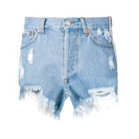 Forte Dei Marmi Couture Bermuda Jeans Com Logo - Azul