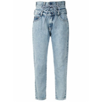 John John Calça Jeans Reta Cós Duplo - Azul