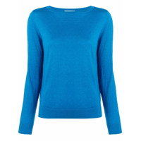 Snobby Sheep Long-Sleeve Fitted Sweater - Azul