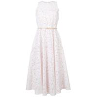 Max Mara Studio Vestido Evasê Com Renda - Branco