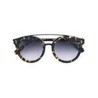 Stella Mccartney Eyewear Óculos De Sol Redondo - Preto