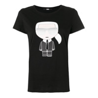 Karl Lagerfeld Camiseta Com Estampa 'iconic Karl' - Preto