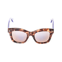 Fendi Eyewear Óculos De Sol Quadrado Em Acetato - Marrom
