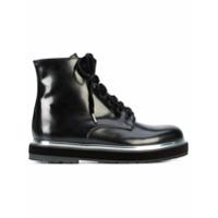 Agl Ankle Boot Com Amarração - Preto