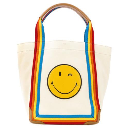 Imagem de Anya Hindmarch Bolsa tote 'Smiley' - Neutro