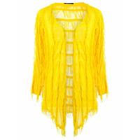 Uma Raquel Davidowicz Cardigan Com Franjas - Amarelo
