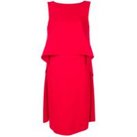 Givenchy Vestido Com Babados - Vermelho