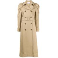 Red Valentino Trench Coat Com Ombro Estruturado - Neutro