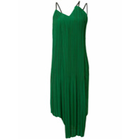 Akira Naka Vestido Reto Com Pregas - Verde