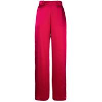 Michael Lo Sordo Calça Pantalona - Vermelho