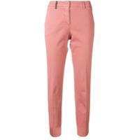 Peserico Calça Jeans Slim Cropped - Rosa