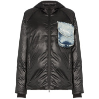 Natasha Zinko Beach-Trash Print Puffer Jacket - Preto