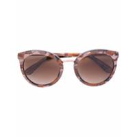 Dolce & Gabbana Eyewear Óculos De Sol Redondo - Marrom