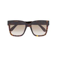 Givenchy Eyewear Óculos De Sol Quadrado Com Efeito Tartaruga - Marrom