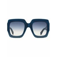 Gucci Eyewear Óculos De Sol Quadrado - Azul