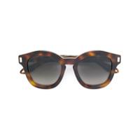 Givenchy Eyewear Óculos De Sol Arredondado - Marrom