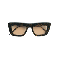 Thom Browne Eyewear Óculos De Sol Quadrado - Marrom