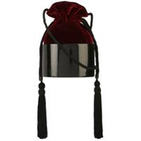 Hunting Season Tassel Detail Bucket Bag - Vermelho