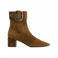 Saint Laurent Ankle Boot '50' De Couro E Camurça - Marrom