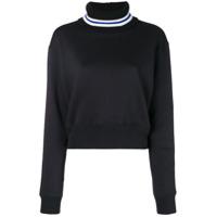 Msgm Contrast Knit Sweater - Preto