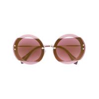 Miu Miu Eyewear Óculos De Sol - Rosa