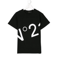 Nº21 Kids Camiseta com estampa - Preto