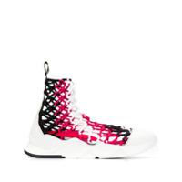 Grey Mer Netted Sock Sneakers - Preto