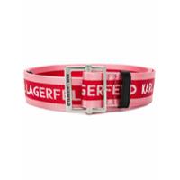 Karl Lagerfeld Logo Belt - Rosa