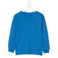 Ralph Lauren Kids Moletom Com Logo Bordado - Azul