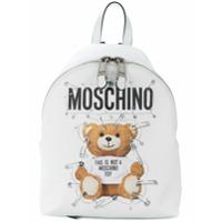 Moschino Mochila 'teddy' Com Logo - Branco