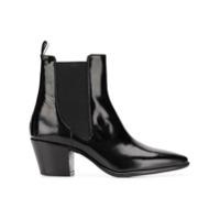 Paris Texas Ankle Boot De Couro - Preto