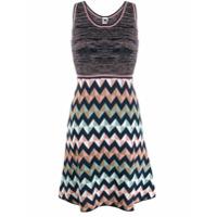 M Missoni Short Zigzag Dress - Azul