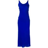 Maison Margiela Vestido Midi De Gola Redonda - Azul