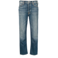 Mother Cropped Straight-Leg Denim - Azul